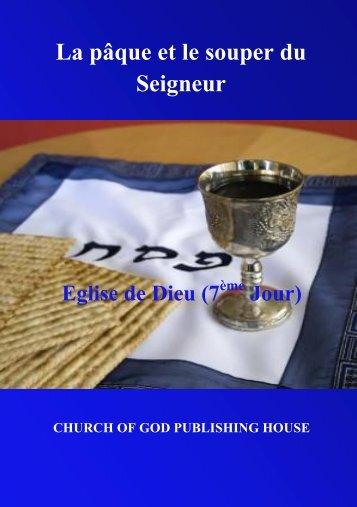 La pâque et le souper du Seigneur
