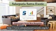Salarpuria Sattva Exotic Residential Apartment Bangalore