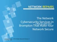 The Network Cybersecurity Services in Brampton That Make Your Network Secure
