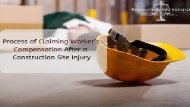 Process of Claiming Worker's Compensation After a Construction Site Injury