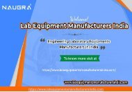 Engineering Laboratory Equipments Manufacturers