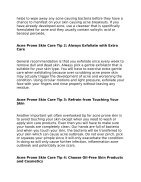 Best Tips for Acne Prone Skin - Page 2