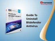 Guide To Uninstall Bitdefender Antivirus