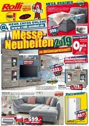 Messe-Neuheiten 2019 zu Aktionspreisen! Rolli SB-Möbelmarkt in 65604 Elz/Limburg
