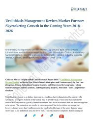 Urolithiasis Management Devices Market To Rear Excessive Growth During 2018-2026