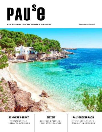 """People's Bordmagazin """"Pause"""" Februar_März 2019"""