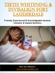 Teeth Whitening & Invisalign Fort Lauderdale
