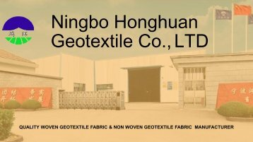 Find High Strength Woven Geotextile