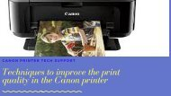 5 techniques to get good quality print from Canon printer