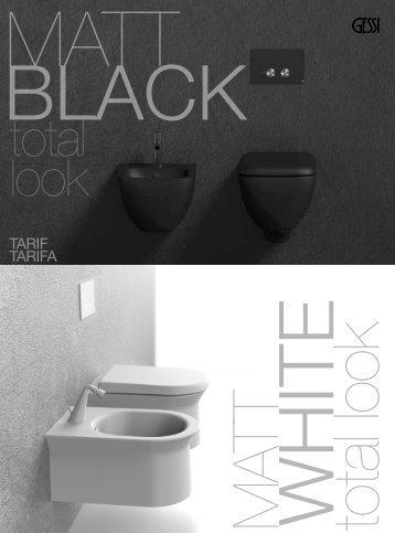 Gessi - Tarifa - Matt Black & White