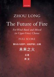 Zhou Long The Future of Fire full score