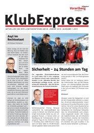 Klubexpress Jänner 2019
