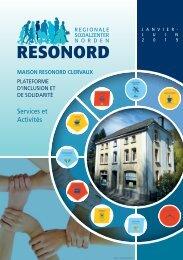 Resonord Clervaux: Services et activités janvier-juin 2019