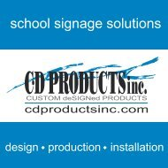 CD Products School Signage