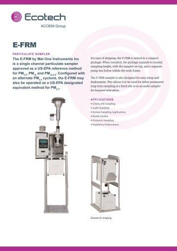 ECOTECH Met One Instruments E-FRM Particulate Sampler