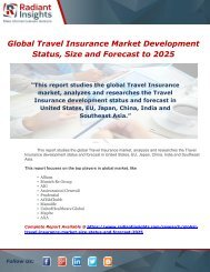 Global Travel Insurance Market Development Status, Size and Forecast to 2025