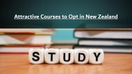Various Courses to Opt in New Zealand for International Students