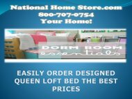EASILY ORDER DESIGNED QUEEN LOFT BED THE BEST PRICES