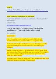 Rezension + Begriffe-Leseprobe: Lernpaket Technik-Woerterbuch deutsch-englisch