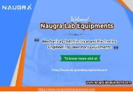 Civil & Mechanical Engineering Lab Equipments Manufacturers