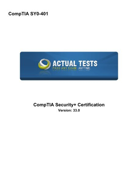 CompTIA SY0-401 CompTIA Security+ Certification ( PDFDrive com )
