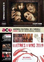 Agenda cultural febrer 2019