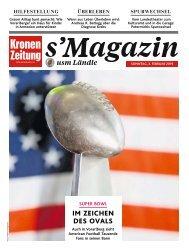s'Magazin usm Ländle, 3. Februar 2019