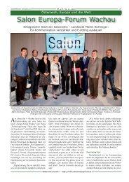 Ausgabe 179 / 1. Salon Europa Forum Wachau