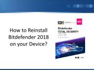 How to Reinstall Bitdefender 2018 on your Device?