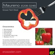 Grower information Maureno 2019