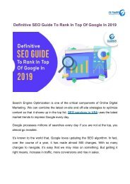 Definitive SEO Guide To Rank In Top Of Google In 2019