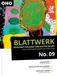 BLATTWERK AUSGABE No.9 – Jänner bis März 2019