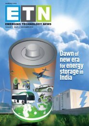 ETN - Dawn of new era for energy storage in India