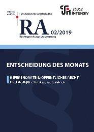 RA 02/2019 - Entscheidung des Monats