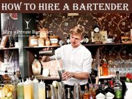 Hire a Professional Bartender at Affordable Cost