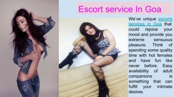 Entertain with Our Seductive Call girls in Goa