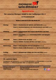Speisekarte Imbiss Loßburgerstr. Kw 6