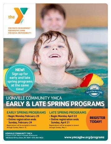 Lionville Community YMCA Spring Program Guide - 2019