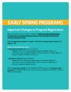 Lionville Community YMCA Spring Program Guide - 2019 - Page 2