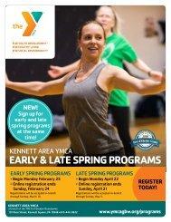 Kennett Area YMCA Spring Program Guide - 2019