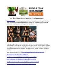 Your Best Figure Mara Nutra Garcinia Supplement