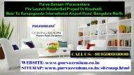 Purva Zenium Airport Road Bangalore   Brochure   Call Us 9590101000