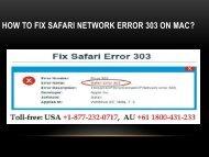How to Fix Safari Network Error 303 on Mac