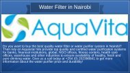Best Quality Water Filter in Nairobi