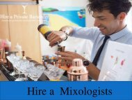 Hire a Professional Mixologists on Hireaprivatebartender.co.uk