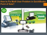 How to Fix Multi User Problem in QuickBooks Point of Sale