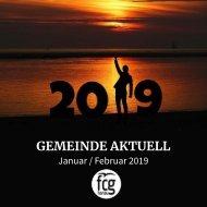 Gemeinde Aktuell - Januar/Februar 2019