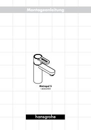 Montageanleitung - Hansgrohe