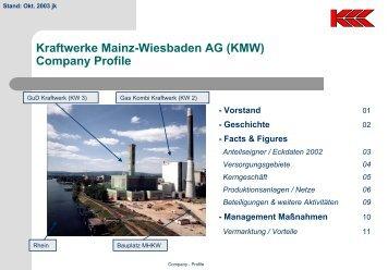 Kraftwerke Mainz-Wiesbaden AG (KMW) Company Profile