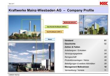 Kraftwerke Mainz-Wiesbaden AG – Company Profile